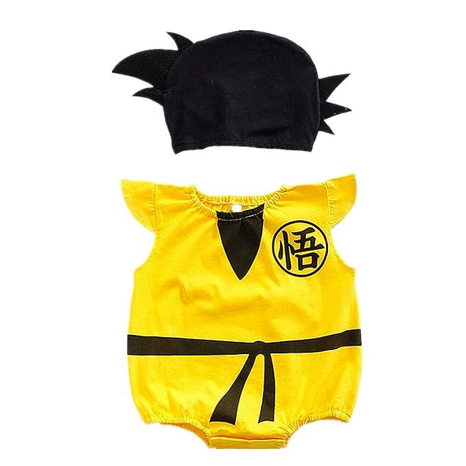 Amazon.com: Bebé Dragón Bola Goku Disfraces Bebé Romper + ...