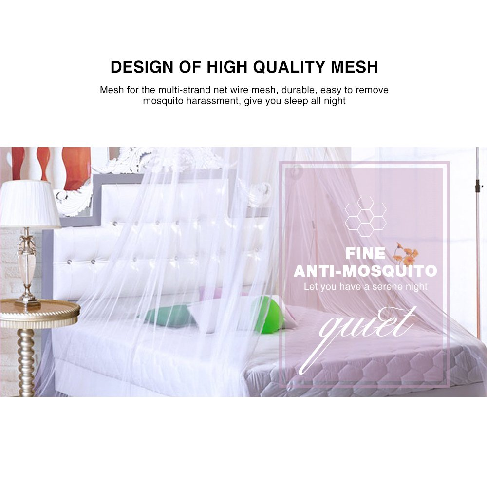 Infreecs Mosquito net for Double Bed Canopy Insect Bug Protection Mosquito Net 12 Meter Coverage Ideal For Home Or Holidays