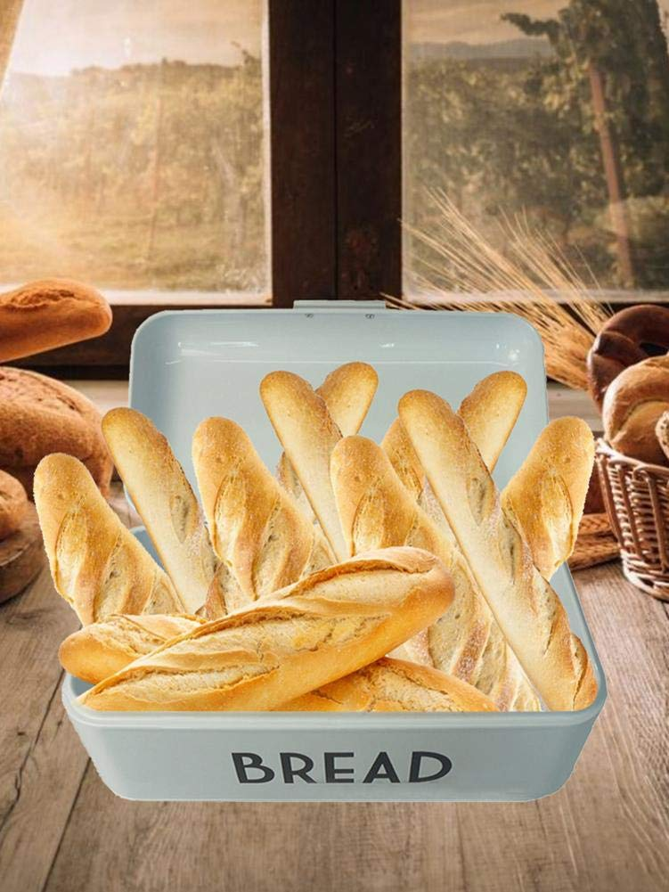 Cocina Rollos y Galletas para la Cocina Bestlle Sanmubo Pasteles Mejor Almacenamiento para Pan Panera de Metal con Caja de Almacenamiento para Pan pasteler/ía