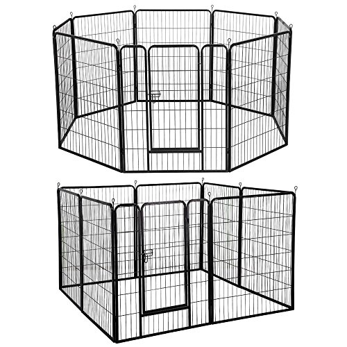 Yaheetech 40-inch 8 Panel Pets Playpen Dog Exercise Pen Cat Fence with Door Puppy Rabbits Portable Play Pen by Yaheetech