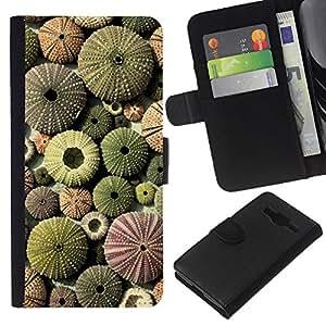 Planetar® Modelo colorido cuero carpeta tirón caso cubierta piel Holster Funda protección Para Samsung Galaxy Core Prime / SM-G360 ( Desert Pattern Plant Green Sun )