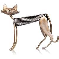 TOOARTS Scultura in Metallo Arte del Ferro Cat Spring Prende un Gatto Artigianato Crafting Decorazioni Fornire Domestico Ornamenti