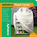Agfabric Warm Worth Frost Blanket - 0.95 oz Fabric of 72''x72''x12'' Shrub Jacket, 3D Cube Plant Cover for Frost Protection