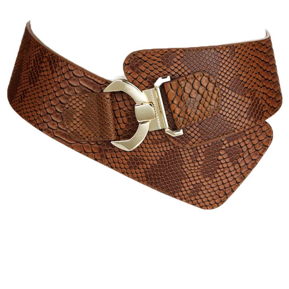 Brown Simple ladies waist elastic elastic down jacket wide belt with skirt simple sweater coat waist 6875cm bluee