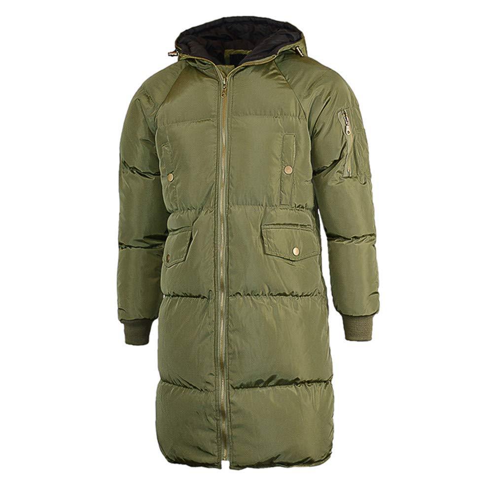 MODOQO Mens Puffer Parka Down Coat Long Trench Winter Warm Windproof Overcoat