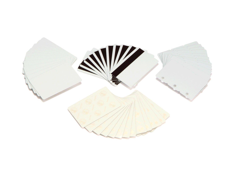 Zebra Plastic Cards 0,76mm (30 mil) PVC Composite, Magnetic stripe, 104524-103 (PVC Composite, Magnetic stripe Blank Weiß, HICO, 500 pcs)