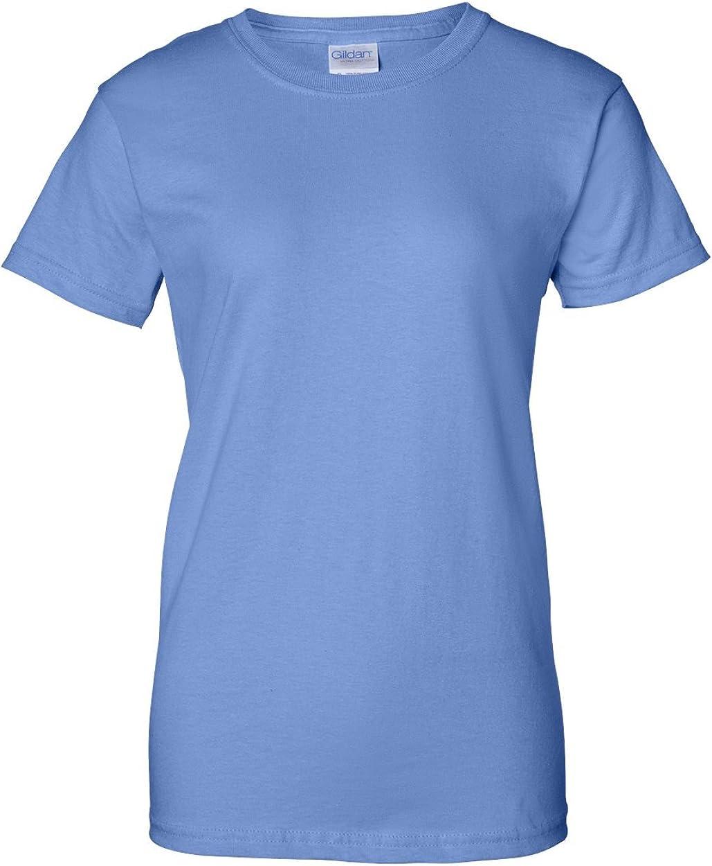 Gildan Womens Softstyle Short Sleeve Crew Neck Cotton T-Shirt Ladies Fit Top New