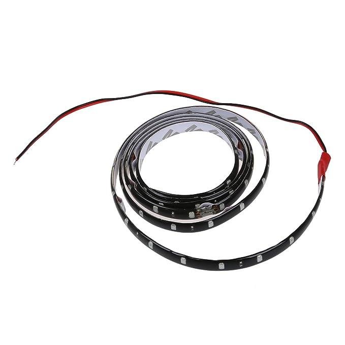 SODIAL(R) 120CM 60 SMD Tira de Luz LED Neon Flexible Impermeable para Coche - Amarillo: Amazon.es: Hogar