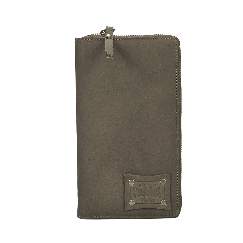 VILENCA 40674 Olive Leather wallet, women leather wallet, women wallet, Ladies Wallet -L23cmxH13cmxB2cm