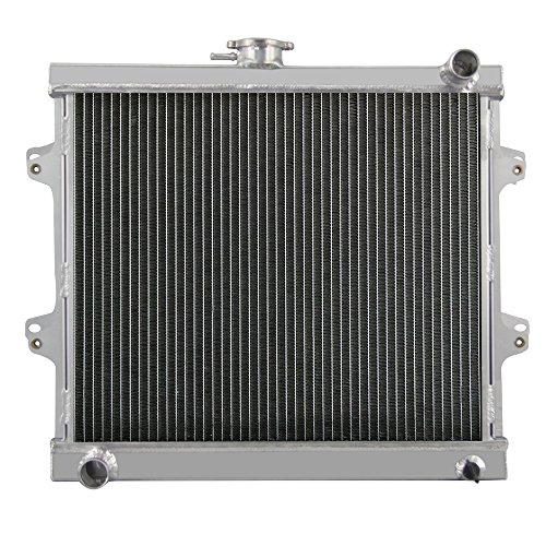 (OzCoolingParts 84-95 Toyota Radiator, 3 Row 52mm Core Full Aluminum Radiator for 1984-1995 Toyota Pickup 4Runner DLX BASE SR5 RN 2.4L L4 Engine MT)