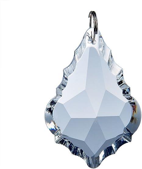 10Pcs Chandelier Glass Crystal Lamp Prisms Parts Hang 76mm Pendants Suncatchers
