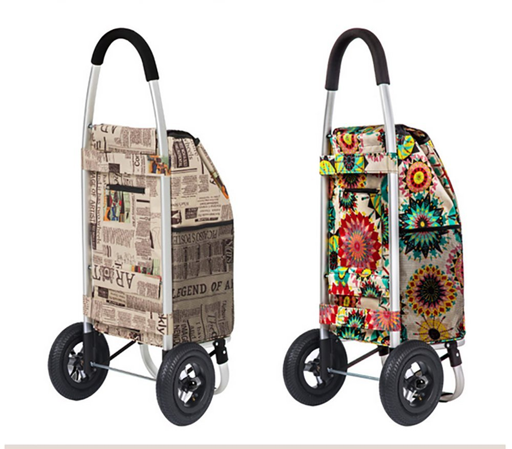 Aluminum Alloy Frame Shopping Cart Trolley Dolly Multifunction High ...
