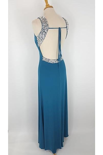 Tiffanys Illusion Prom Teal Chicago Jewelled Evening Gown UK 4 (US 0): Amazon.co.uk: Clothing