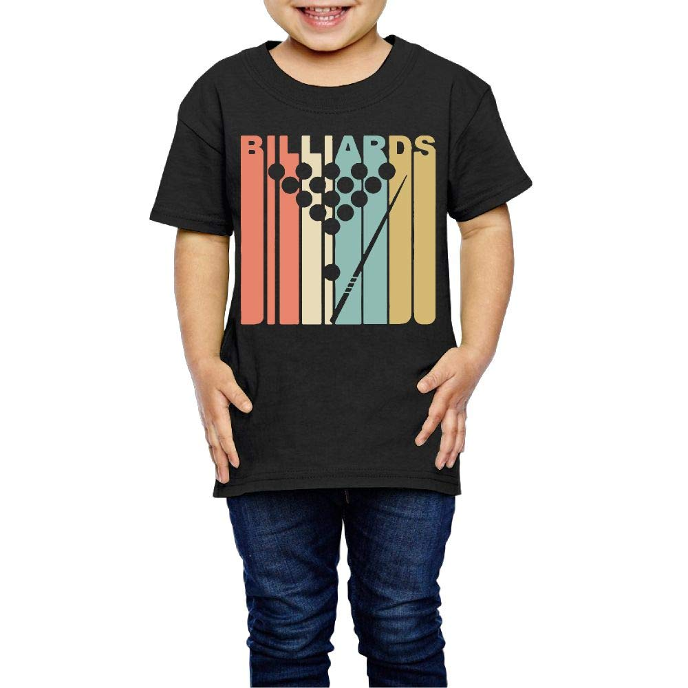 XYMYFC-E Vintage Style Retro Style Billiards 2-6 Years Old Children Short-Sleeved T-Shirt