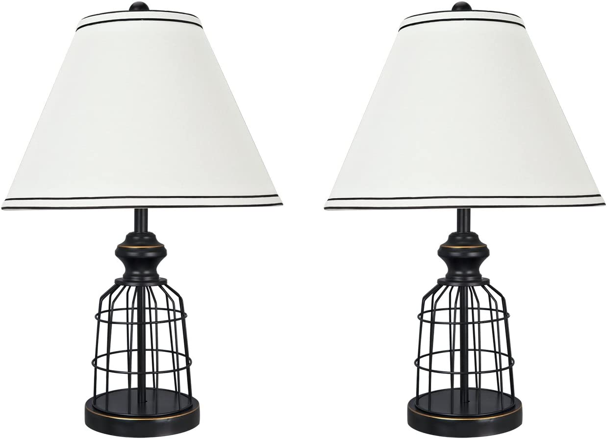 Aspen Creative 40140-02 22″ High Traditional Metal Wire Table Lamp