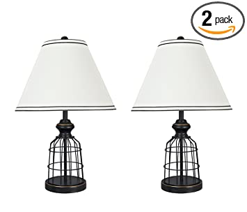 Aspen Creative 40140 02 22 High Traditional Metal Wire Table Lamp