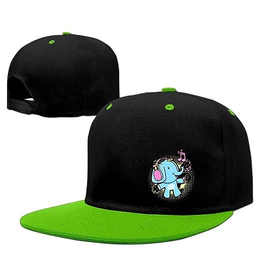 6b83a209f432c Lichang DJ Headphone Elephant Unisex Adjustable Snapback Hip Hop Hat Dad Cap