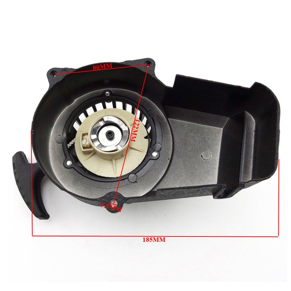 STONEDER Filtro de Aluminio Negro para Arranque de Buj/ías de 2 Tiempos 47 CC 49 CC para Moto Motocicleta o Quad.