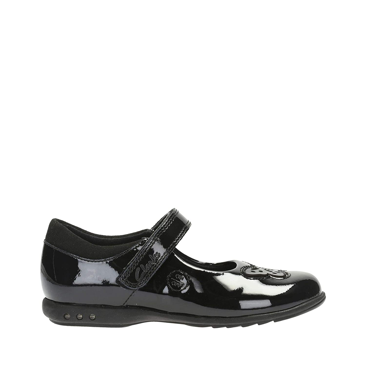 4f43179dbc750 Clarks Trixi Rose Infant Coated Leather Shoes in Black Patent:  Amazon.co.uk: Shoes & Bags