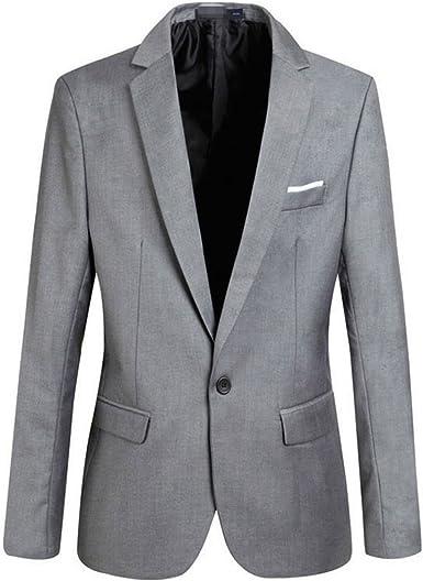 hibote Hombres 4 Colores Chaqueta Slim Fit Business Chaquet Hombres Elegante Uno Botón Blazers Ligero Casual Trajes Capa XS-XXXXL
