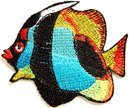 Tropical Fish Figure Logo Jacket T shirt Patch Sew Iron on Embroidered Badge Sign Costum