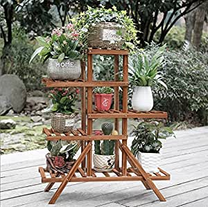 Multi-storey Potted Plant Display Stand Wooden Plant Flower Stand Balcony Living Room Outdoor Flower Stand