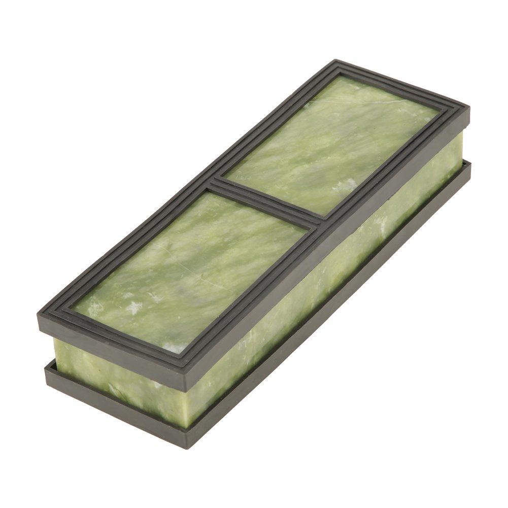 Schleifstein Abziehstein Kü chenmesserschä rfer fü r Messer, ein Geschenk oder eine Sammlung, Kö rnung 10000 Smaragd mit 2 rutschfesten Silikagelbasen 180*60*30mm Hilitand