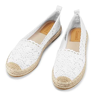 casuel Women's Espadrille Flats, Slip Ons Sneakers Casual Canvas Shoes Comfortable Loafer | Loafers & Slip-Ons
