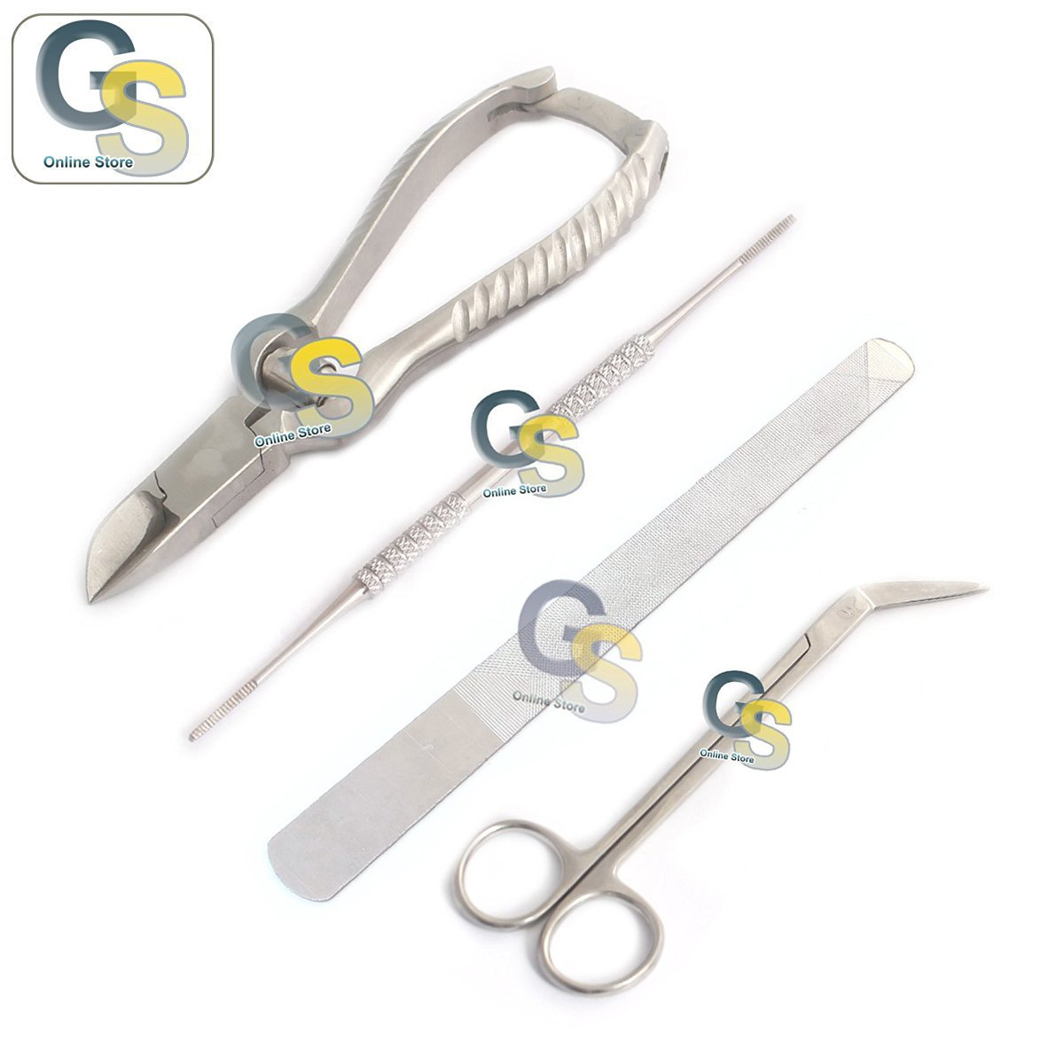 G.S TOENAIL CLIPPERS FOR DIABETICS ELDERLY PROFESSIONAL FOOT NAIL CARE KIT SCISSORS