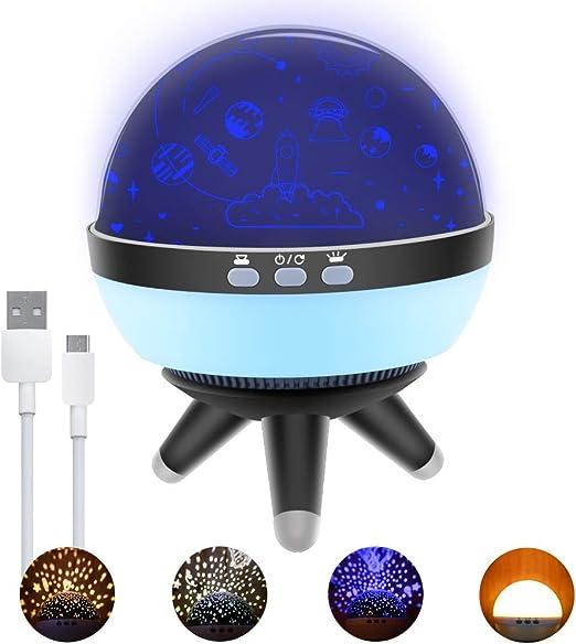 Luces de noche para niños Lámpara de proyector LED Qoosea Lámparas ...