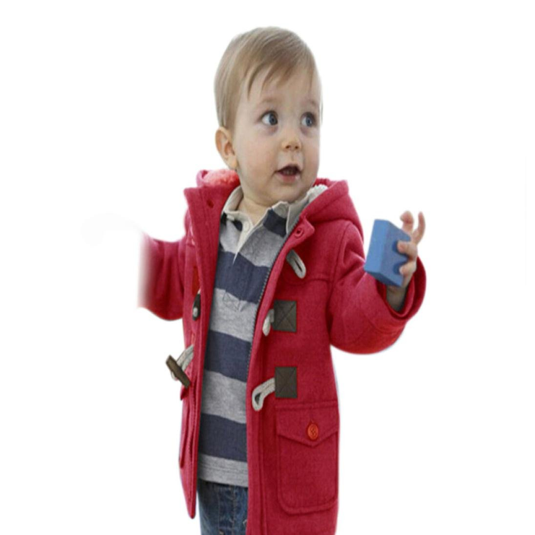 Toddler Baby Kids Girl Boy Winter Warm Horn Coat Jacket Hooded SnowSuit Outwear