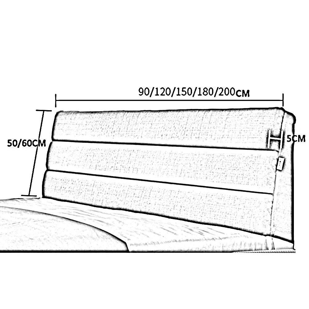 QIANCHENG-Cushion Cuscini Testiera da Letto Testiere Capezzale Cuscino della Testata Letto Matrimoniale Arte del Panno Copriletto Casa Camera da Letto Divano Lavabile,6 Colori