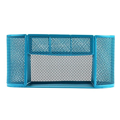 Jeash Storage Box ✿ Multi-Function Pen Pencils Mesh Holder Stationery Container Desk Tidy Organizer for Home School Office Decor (Blue) by Jeash (Image #5)