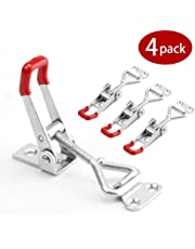 Toggle Clamp Latch, 4-Pack 360Lbs Heavy Duty Holding Capacity 4001 Style Adjustable Toggle Latch Hasp Clamp for Door, Box Case Trunk, Lid, Jig. Quick Release Pull Latch, Metal Draw Latch