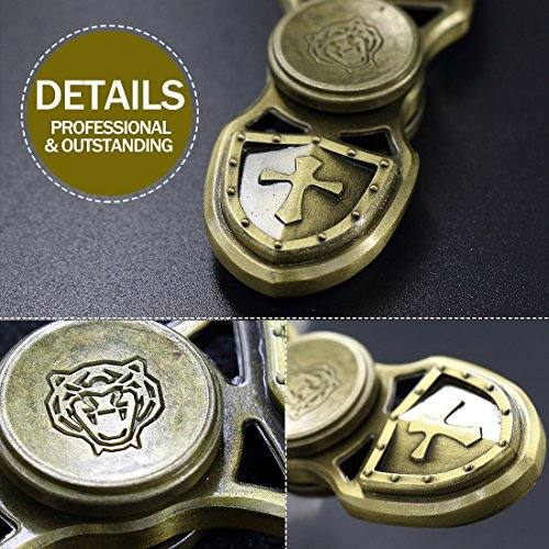 Gfine Stylish 3D-Embossed Vintage Style Fidget Spinner with Average 3-5 Mins High Speed Spinning – No big noise