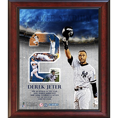 MLB New York Yankees Derek Jeter #2 Career Highlight with Tipping Helmet Framed 11x14 Collage