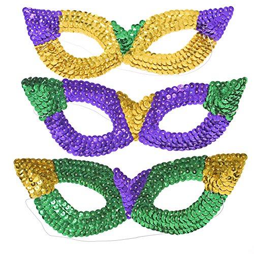 Mardi Gras Sequin Harlequin Masks