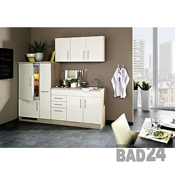 Singleküche, Büroküche, Teeküche 210 Torona-Pack Glossy Cream ... | {Büroküche 71}