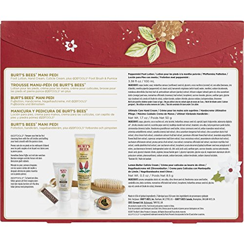 Burt's Bees Mani Pedi Holiday Gift Set 4 Products in Box