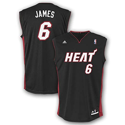 Amazon.com   NBA Miami Heat LeBron James Road Replica Youth Jersey (Black f0a2b4efb