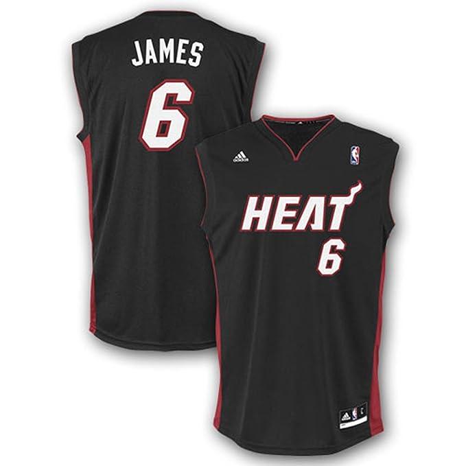 quality design 2a388 573e7 Amazon.com : NBA Miami Heat LeBron James Road Replica Youth ...