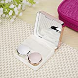 TARTINY Mini Simple Contact Lens Travel Case Box Container Kit Set Holder With Mirror