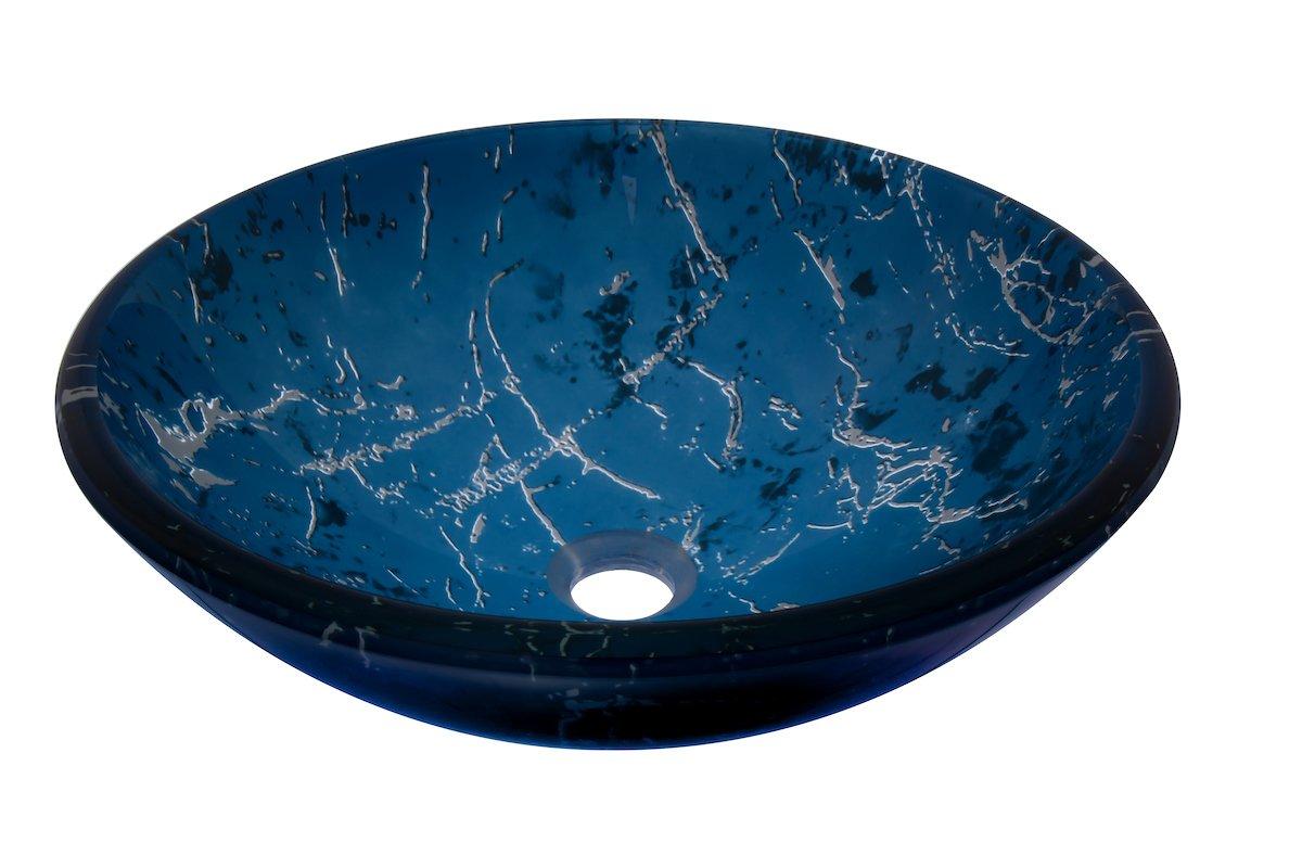 Novatto MARMO Glass Vessel Bathroom Sink Set Oil Rubbed Bronze