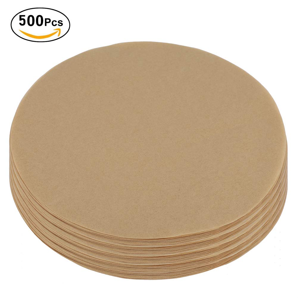 Round Parchment Paper Barbecue Tin Foil Paper, 100/200/500Pcs 9 inch Non-stick Round BBQ Paper Baking Sheets Barbecue Foil Paper for Baking, Cooking, Storage (3#)