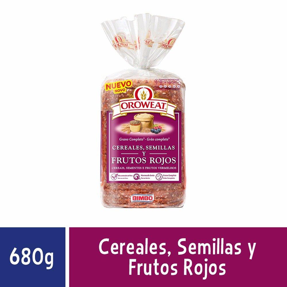 Oroweat Cereales , Semillas y Frutos Rojos, pan multicereales con ...