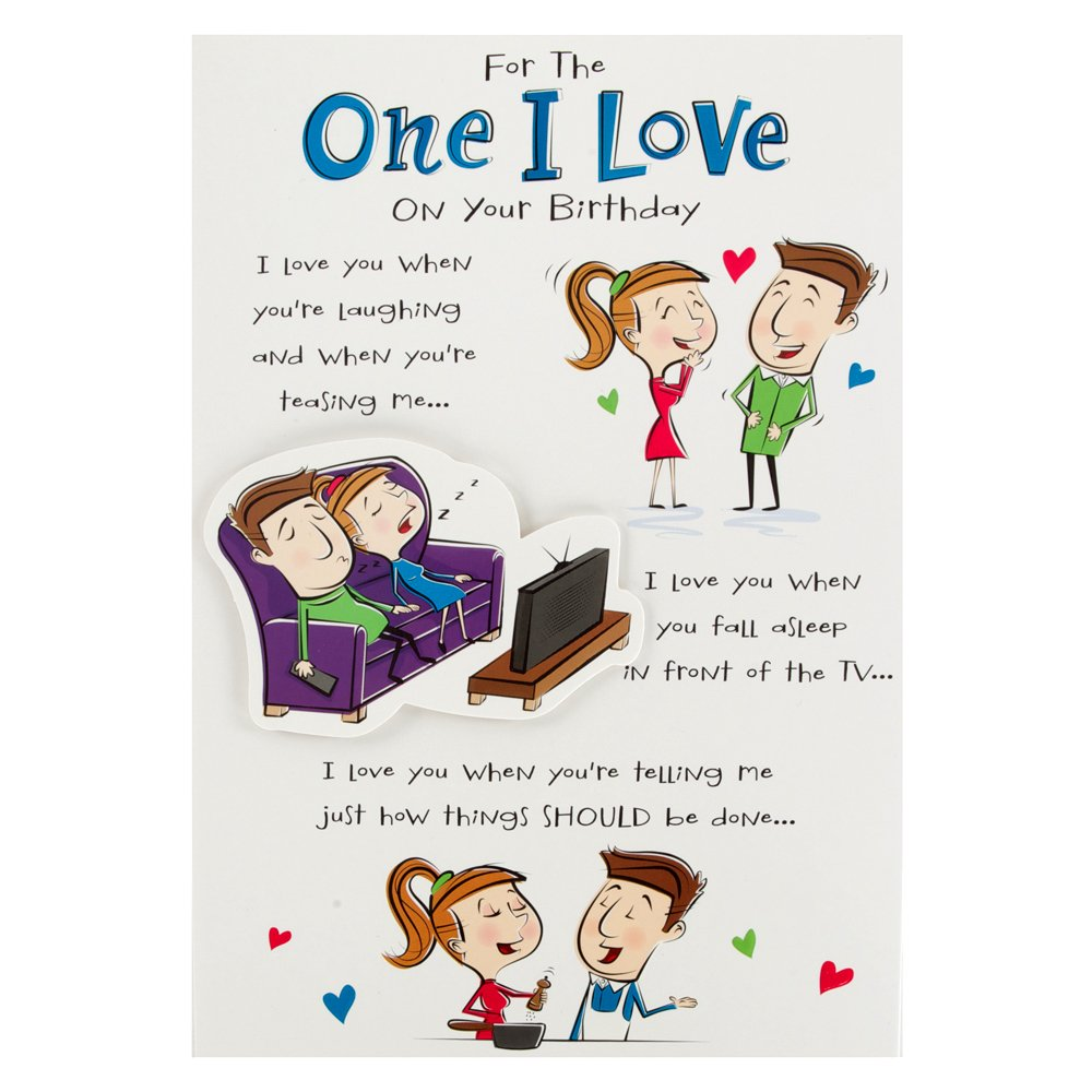 Hallmark Birthday Card For One I Love Funny Poem Medium Amazon – Birthday Cards for a Loved One