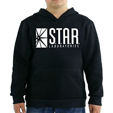 987be4af4 Amazon.com: fresh tees Star Laboratories S.T.A.R. Labs Youth Hooded  Sweatshirt: Clothing