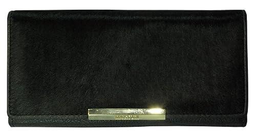 Monedero Cartera Billetera Piel Vaca Cuero Negro Leather Wallet Geldbörse aus Leder Porte-monnaie en Cuir Portafoglio: Amazon.es: Zapatos y complementos