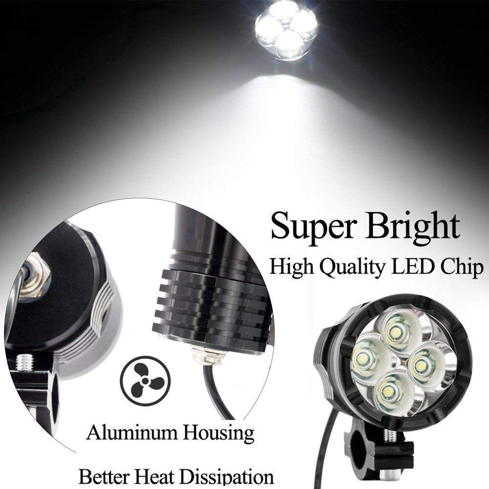 Led Work Light Yellow 2Pcs Ourbest Cree 20W LED 4 Driving Off Road Lights Pods For Truck Trailer Forklift Vehicles Warning Lights Jeep Car ATV UTV SUV Boat