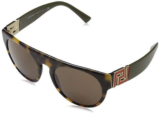 Mens 0VE4333 523173 Sunglasses, Havana/White/Black/Demolens, 55 Versace